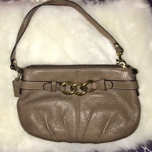 Coach Mauve Leather Wristlet